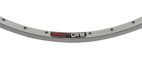 Sun CR-18 590 mm (26 x 1 3/8) Rim 36H Satin Silver Finish