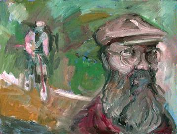 Print of 'Bicycle Guru' by Richard Junila Brown