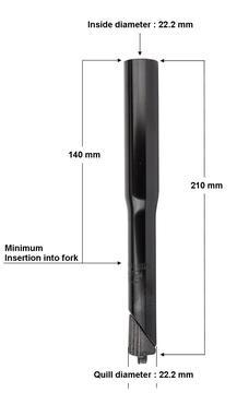 "Sunlite Stem Raiser For Traditional 1"" Inch (22.2mm Quill) Stems"