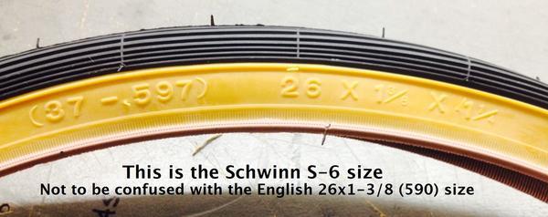 Kenda 26 x 1-3/8 - 1-1/4 (37-597) Schwinn S-6