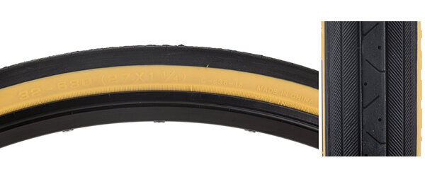 "CST 27 x 1-1/4"" (630) Tire Black/Gumwall 90 psi"