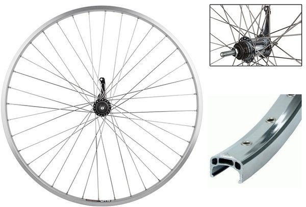 "Harris Cyclery 27"" (630) Sun CR18/Shimano Coaster Brake Hub Singlespeed Rear Wheel"