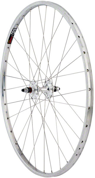 "Harris Cyclery 27"" Sun CR18/Origin8 Fixed/Free Rear wheel, 36 DT Spokes."