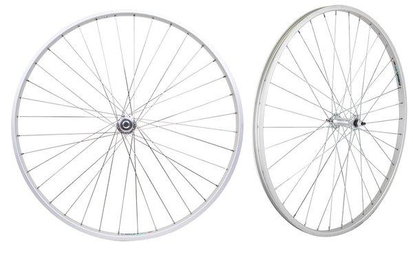 """Harris Cyclery 27"""" (630) Weinmann RM19 QR Wheelset Freewheel"""