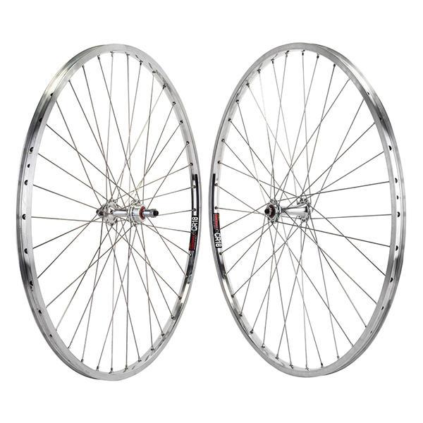 "Harris Cyclery Wheelset 27"" Sun CR-18 Rims on Sealed Hubs QR Freewheel, 36 Spokes"