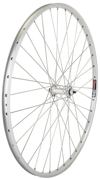Harris Cyclery 26 x 1-3/8 (590) Front Wheel. Sun CR18 Rim, Alloy Bolt-on Hub, 36 Spokes