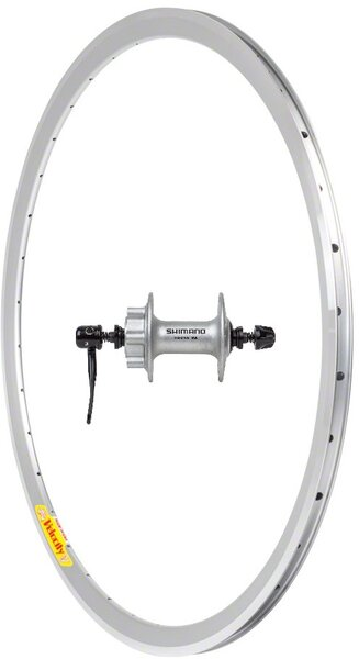 Harris Cyclery 700c Front Wheel Deep-V w/Shimano 6-Bolt Disc Hub, Silver