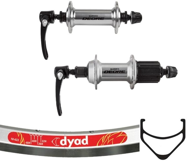 Harris Cyclery 700c Velocity Dyad/Deore T610 Wheel Set 36 Spoke
