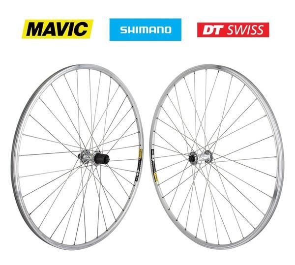 Harris Cyclery 700c Road Wheelset Mavic Open Sport/Tiagra Cassette 32 Spoke Silver