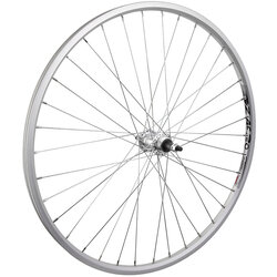 Harris Cyclery 26 x 1-3/8 (590) Rear Wheel. Weinmann Alloy Rim, Freewheel Hub, 36 Spokes