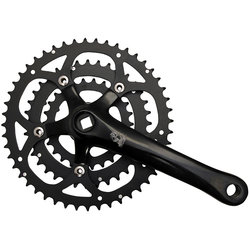 New Albion Crankset XDT 110/74mm 48-36-26 teeth 170mm Arms Black