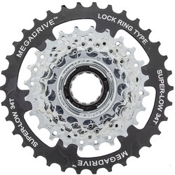 SunRace 13-34 Thread-on 7-speed Freewheel MegaDrive
