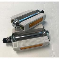 MKS White Rubber Pedals 9/16