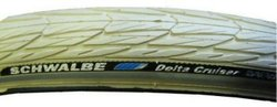 Schwalbe 37-590 26 x 1 3/8 Delta Cruiser Cream w/Reflective Stripe