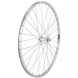 Harris Cyclery 26 x 1-3/8 (590) Front Wheel. Sun CR18 Rim, Alloy Bolt-on Hub, 36 Spokes