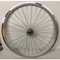 Harris Cyclery 700c Front Wheel Deep-V w/ Origin8 Track Style Hub, Silver