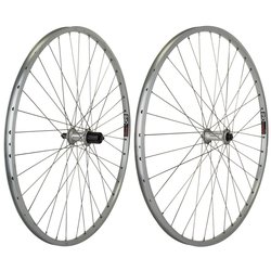 Harris Cyclery 700c Road Wheelset Sun CR18 Rims/2400 Cassette 36 Spoke Silver