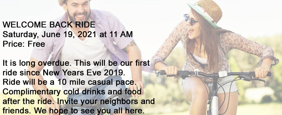 Welcome Back Ride at Macomb Bike 2021 - Michigan