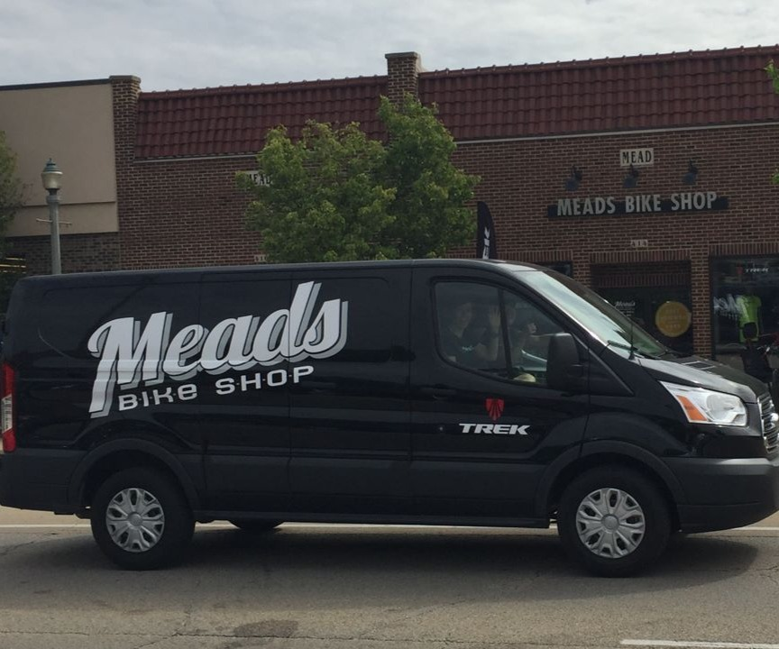 Mead's Bike Shop pick-up and delivery available