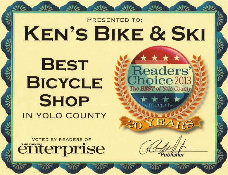 Best Bicycle Shop in Yolo County - 2013