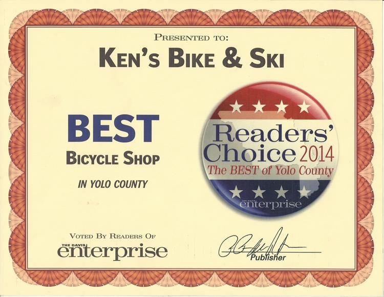 Best Bicycle Shop in Yolo County - 2014