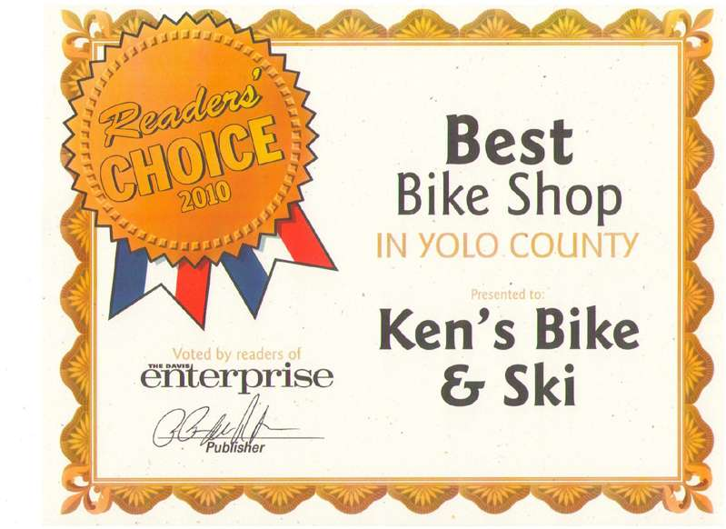 Best Bicycle Shop in Yolo County - 2010