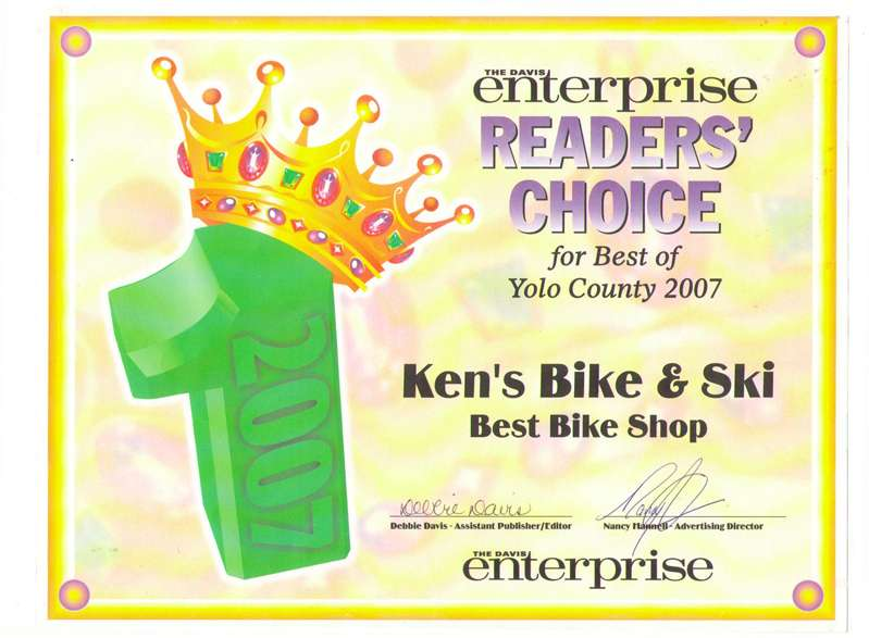Best Bicycle Shop in Yolo County - 2007