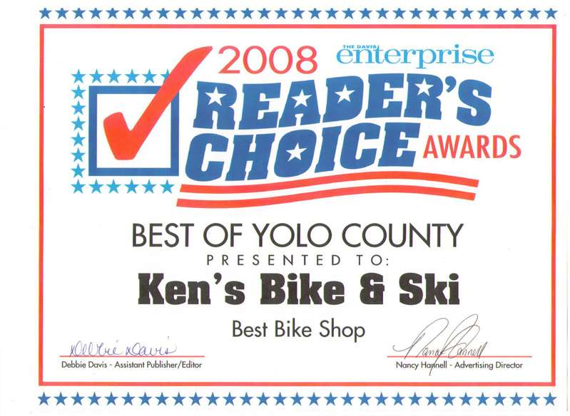 Best Bicycle Shop in Yolo County - 2008