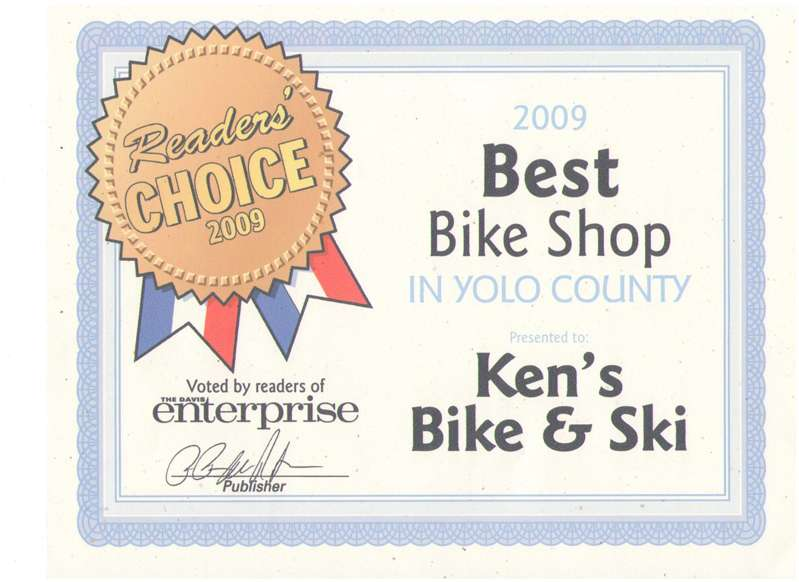 Best Bicycle Shop in Yolo County - 2009