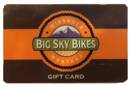 Big Sky Bikes Gift Card