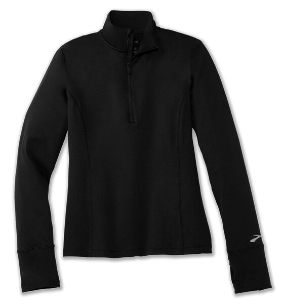Brooks Running Womens Dash 1/2 Zip Color: Black
