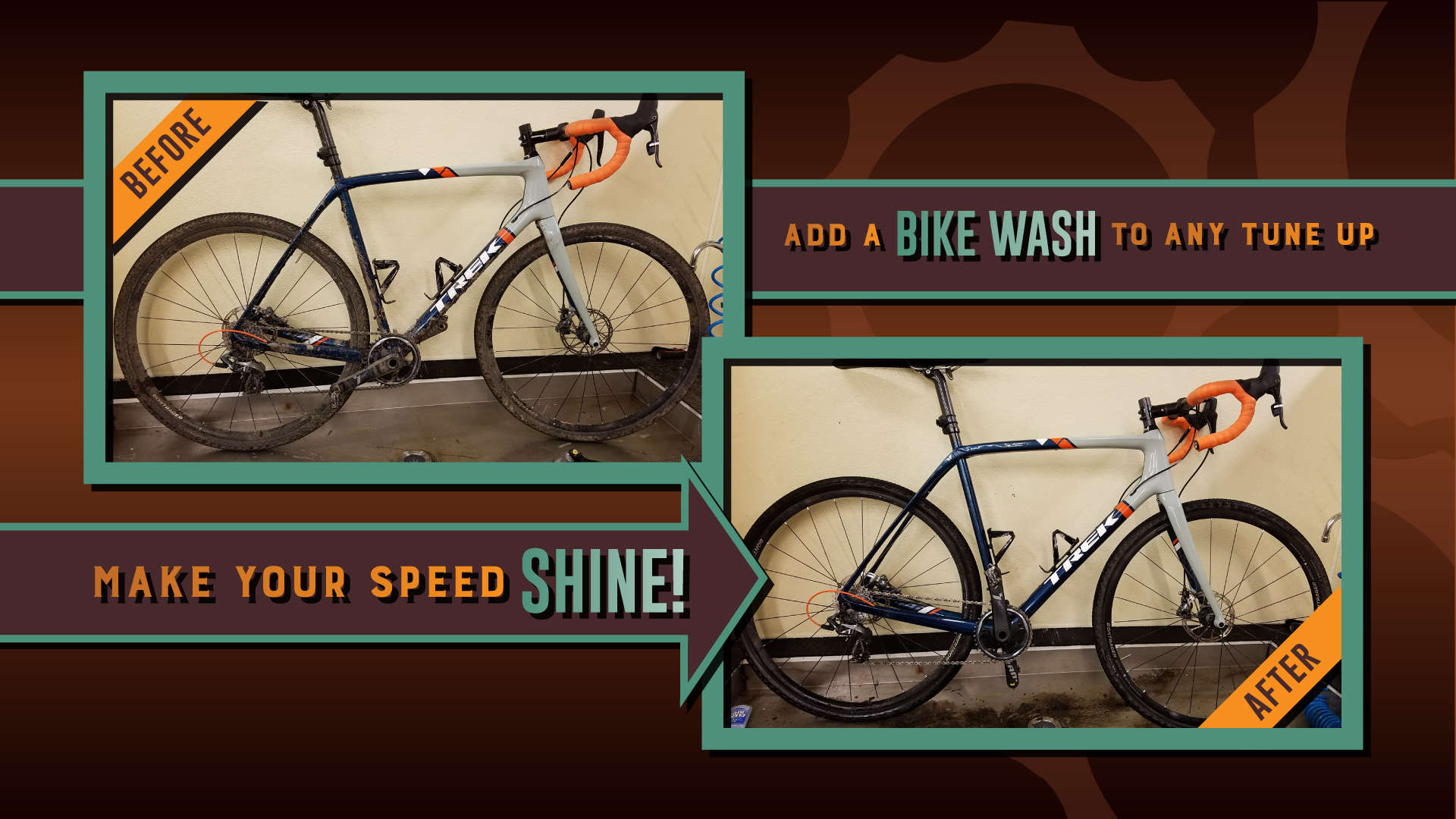 Add a bike wash to any tune up.