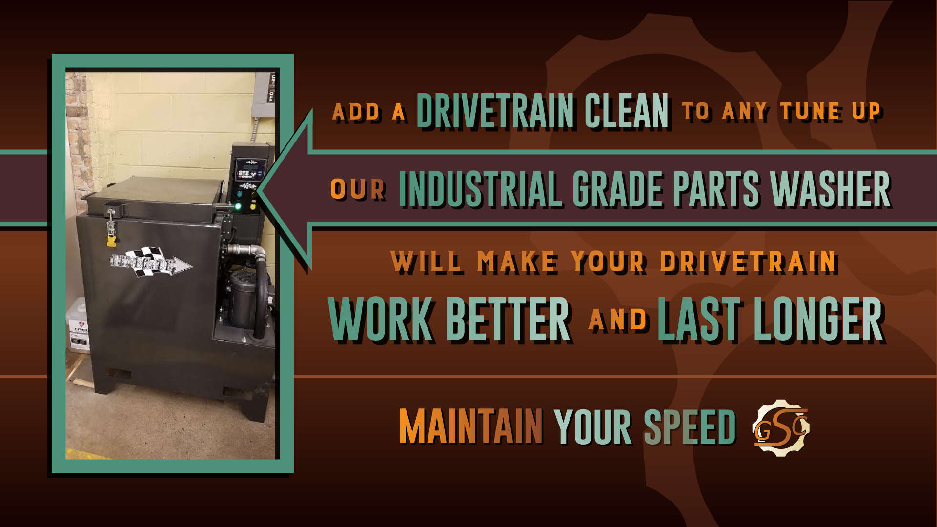 Add a drivetrain clean to any tune up.