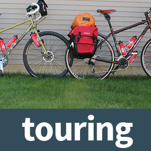 touring and city style bikes for long distance bike packing and vacationing