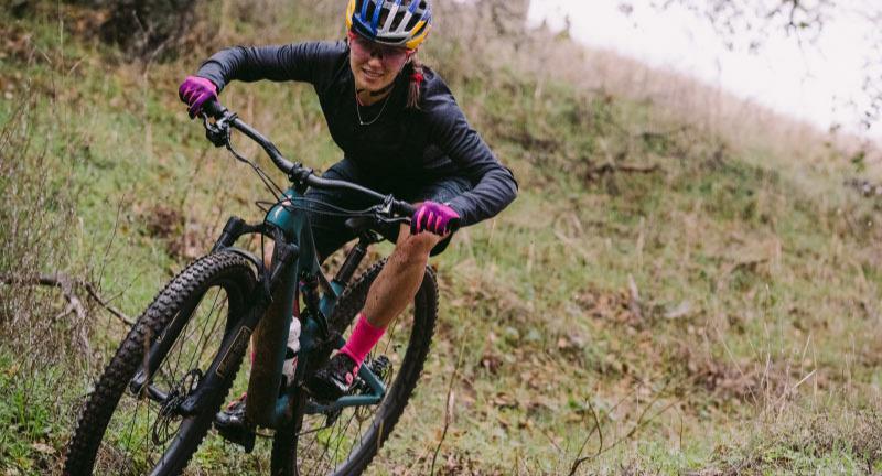 Woman on Specialized mountain bike