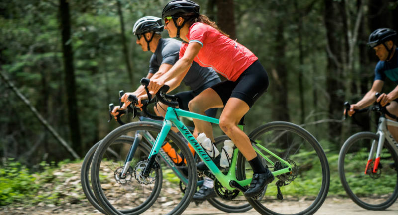Group ride on Specialized gravel bikes