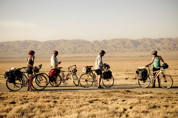 Bike packing crew on an adventure