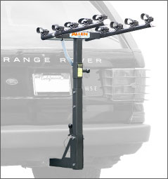 "Allen 550RR DELUXE 5-BIKE CARRIER 2"" HITCH BICYCLE RACK 552RR FREE SHIP&TAX"