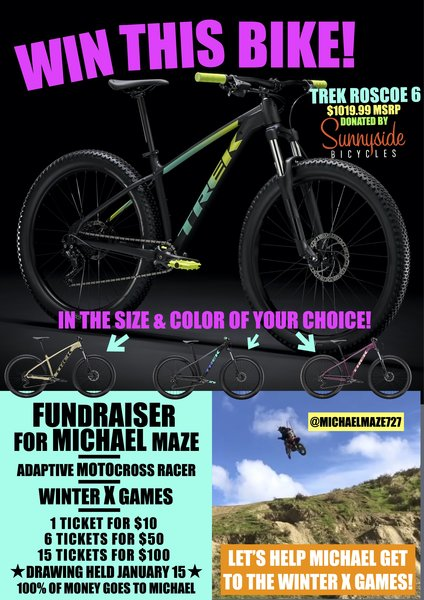 Sunnyside Bicycles Fundraiser for Michael Maze