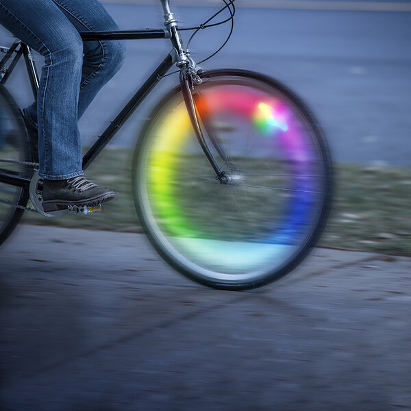 Nite Ize SpokeLit Rechargeable Disc-O Wheel LED Wheel Light