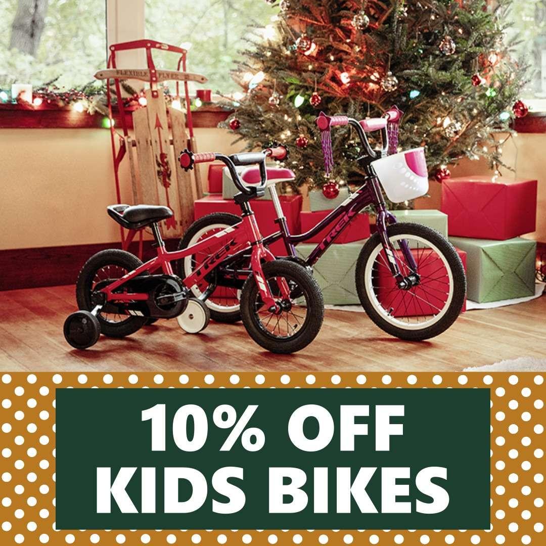 10% OFF Kids Bikes | WPC Holiday Deals Nov 29th - Dec 24th
