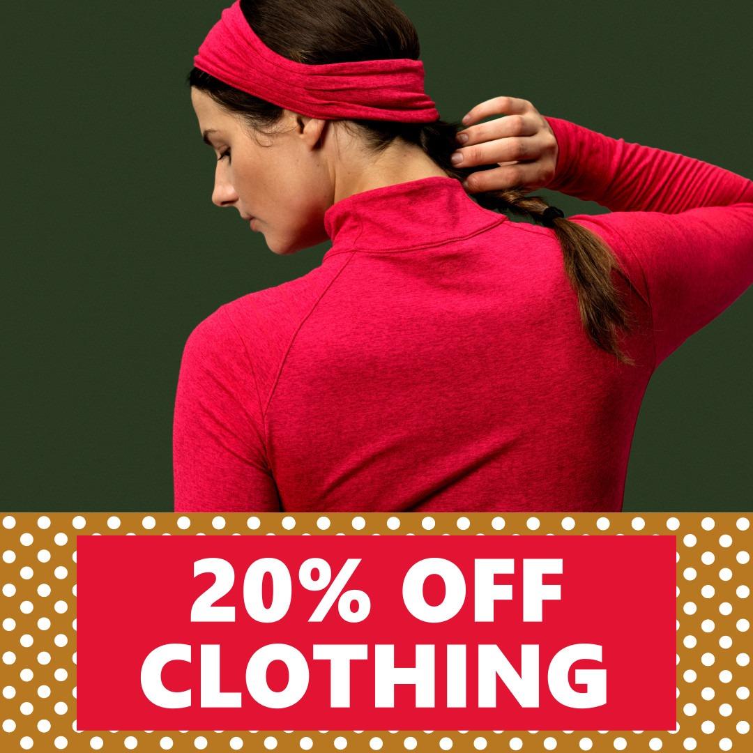 20% OFF Clothing | WPC Holiday Deals Nov 29th - Dec 24th