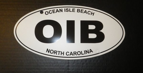 OIFC OIB Oval License Plate