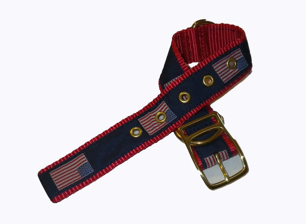 Leatherman Flag Dog Collar