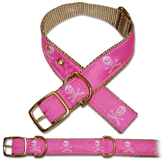 Leatherman Pink Pirate Dog Collar