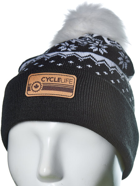 Cycle Life Fairisle Beanie Black