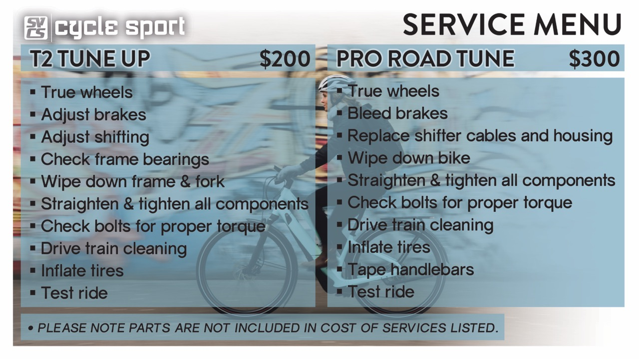 T2 Tune Up & Pro Road Tune