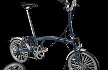 Brompton Brompton M3L Tempest Blue w/Marathon Tires and Battery Lighting