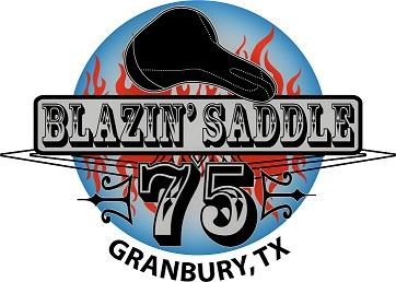 Blazin' Saddle 75 link and logo