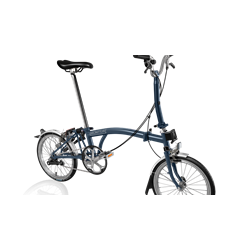 Brompton Brompton M3L Tempest Blue w/Marathon Tires and Battery Lighting